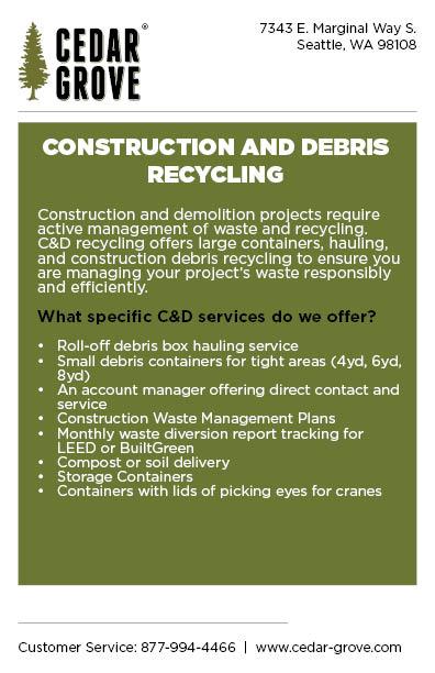 Construction & Debris Recycling - Cedar Grove | Organic Compost