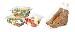 Eco Products compostable deli take out corn based containers with lids