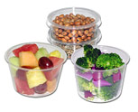 Pactiv corn based portion cups with lids