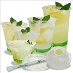 asean plant based clear cold cup and lids compostable