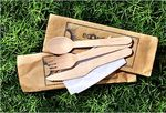 Ecoware wooden utensils forks knives spoons compostable