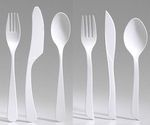 Huhtamaki regular and heavy duty corn based utensils compostable