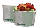 international paper ecotainer pla lined paper hot food compostable bowl