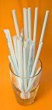 Precision products group compostable paper straws unwrapped